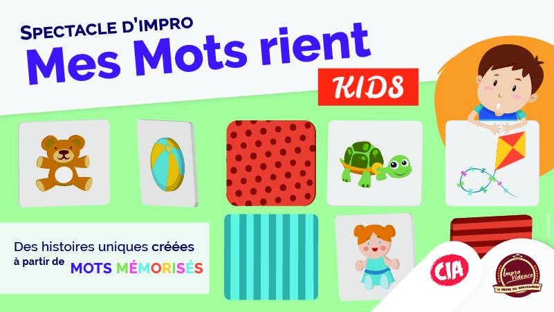 Affiche du spectacle Mes Mots Rient Kids pour le festival d'Avignon 2019